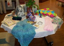 samples of St. John's Lutheran Women sewing groups