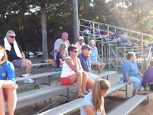 St. John's Luthern softball team spectators